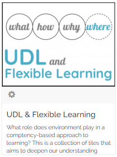 UDL and flexible learning on PD Mosaic
