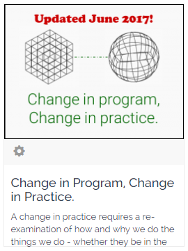 Change in Program, Change in Practice on PDMosaic